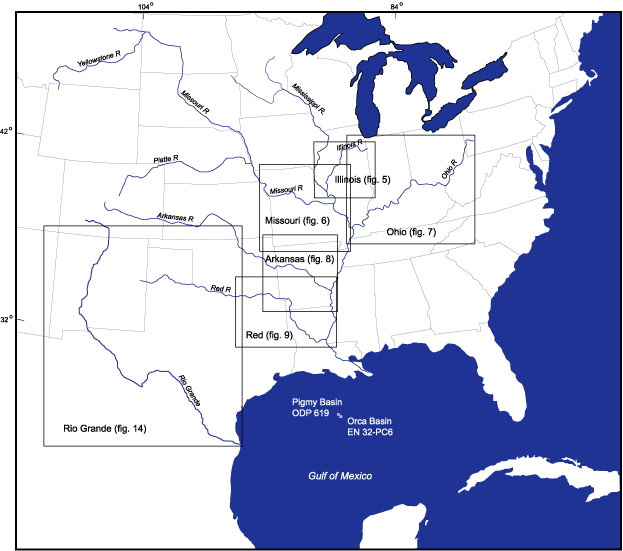 USGS B Figure - Us map east of mississippi river
