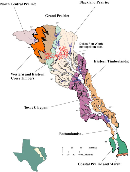 Trinity River Basin Environmental Setting and Hydrologic