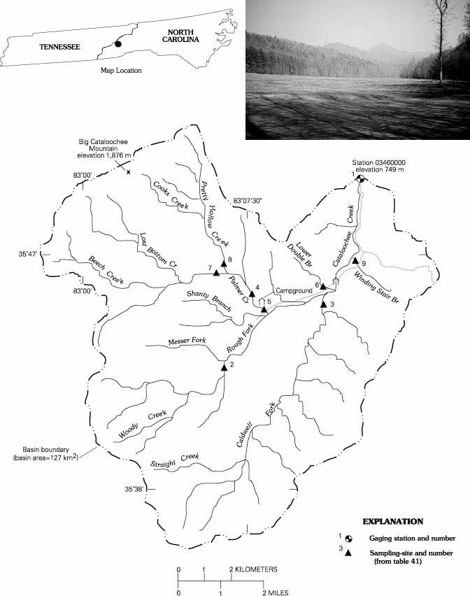 Fraser Ridge Nc Map.Cataloochee Creek Near Cataloochee