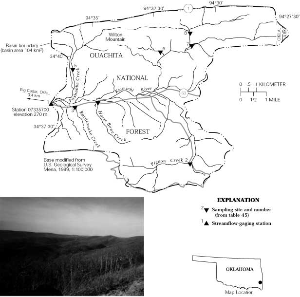 Kiamichi river near big cedar map showing study area in the kamichi river basin and photograph of the landscape of the basin the 104 km basin ranges in elevation from 270 to 810 m and publicscrutiny Images