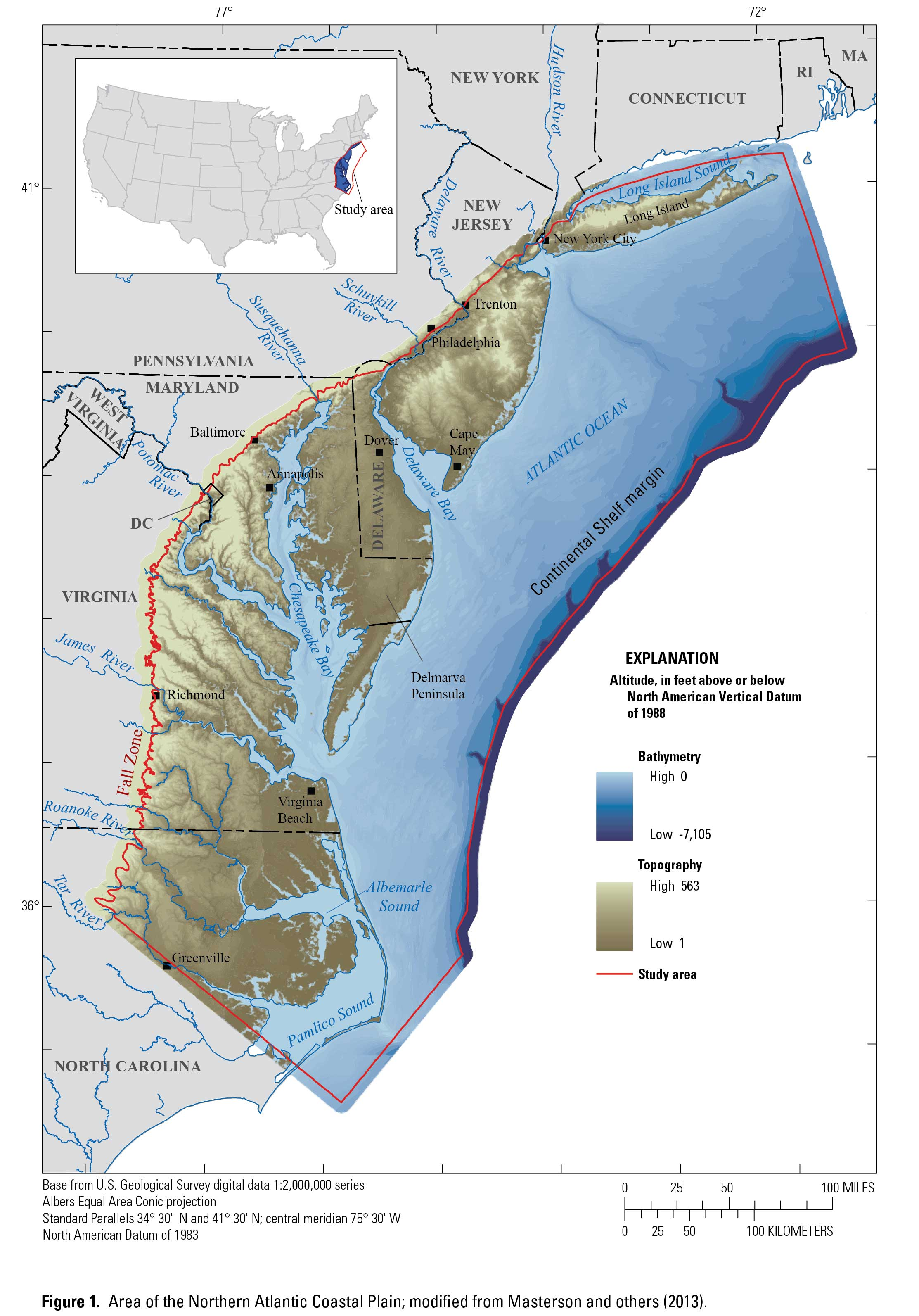 Geospatial Compilation And Digital Map Of Centerpivot Irrigated - Us map of the mid atlantic region