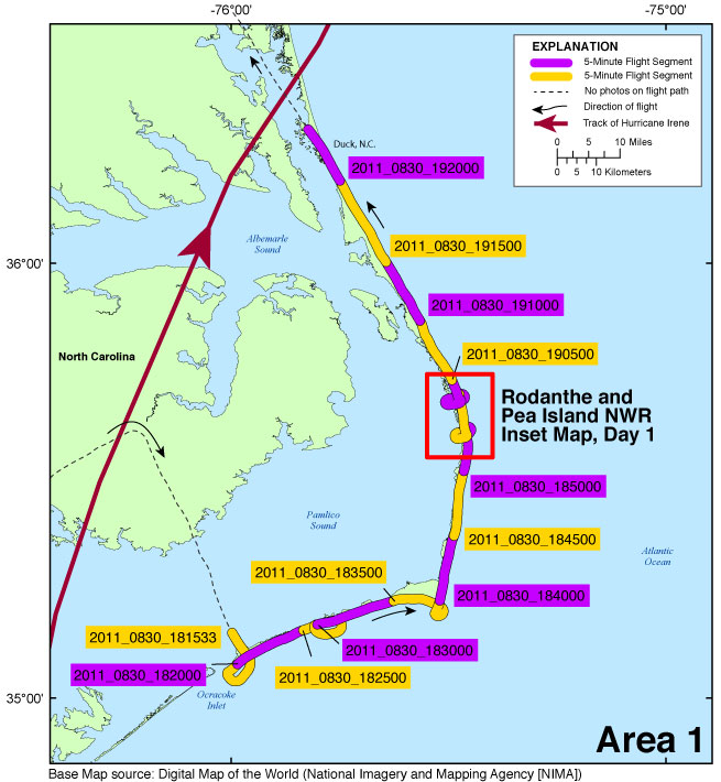 CCH Photos And Maps PostHurricane Irene Coastal Oblique - Map of virginia and north carolina