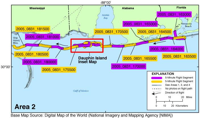 Pensacola Beach Florida Map.Usgs Data Series 1033 Photos And Maps Post Hurricane Katrina