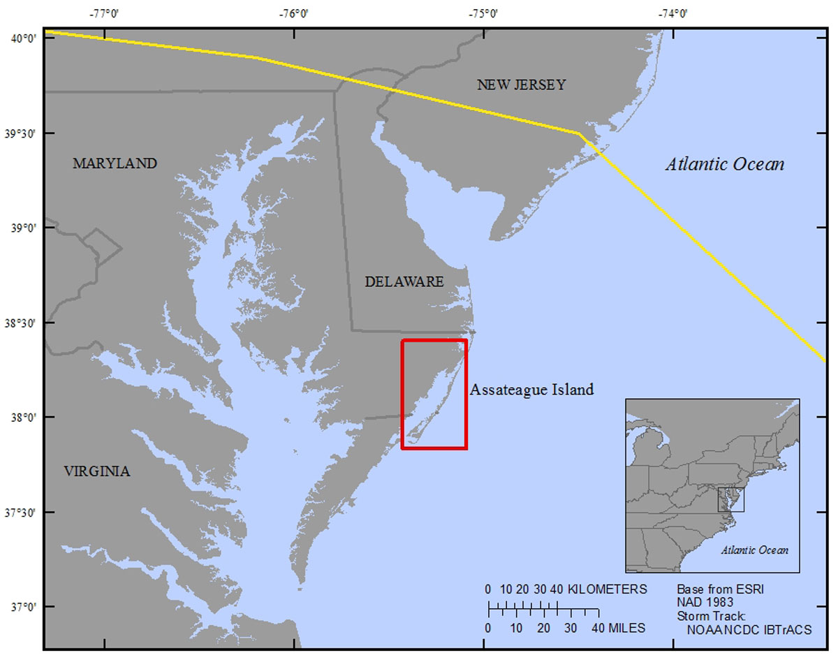 Introduction A Seasonal And Spatial Comparison Of Metals And - Map-of-us-east-coast-islands