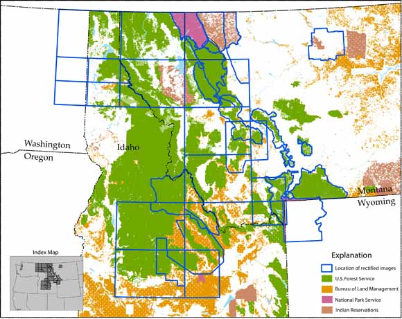 Rectified Images of Selected Geologic Maps in the Northern Rockies