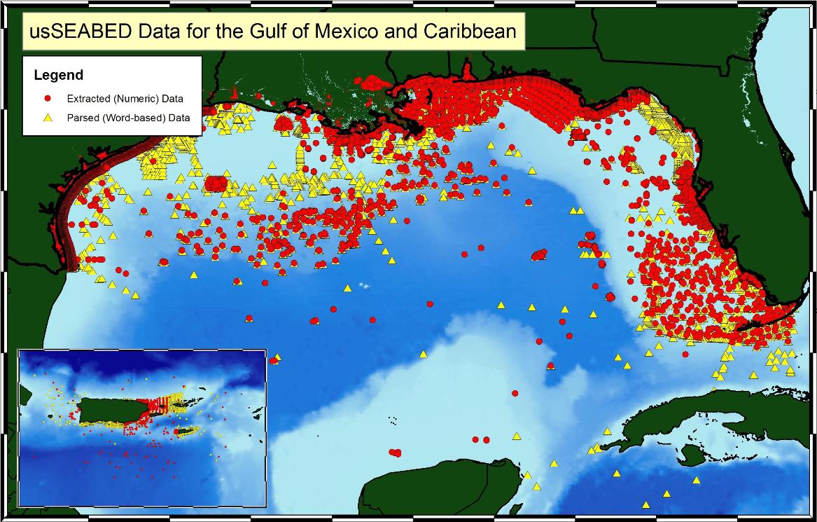 usSEABED Gulf of Mexico and Caribbean Offshore Surficial Sediment