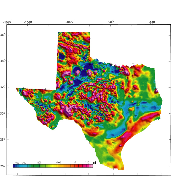 DS 232: Texas Magnetic and Gravity Maps and Data: A Website for ...