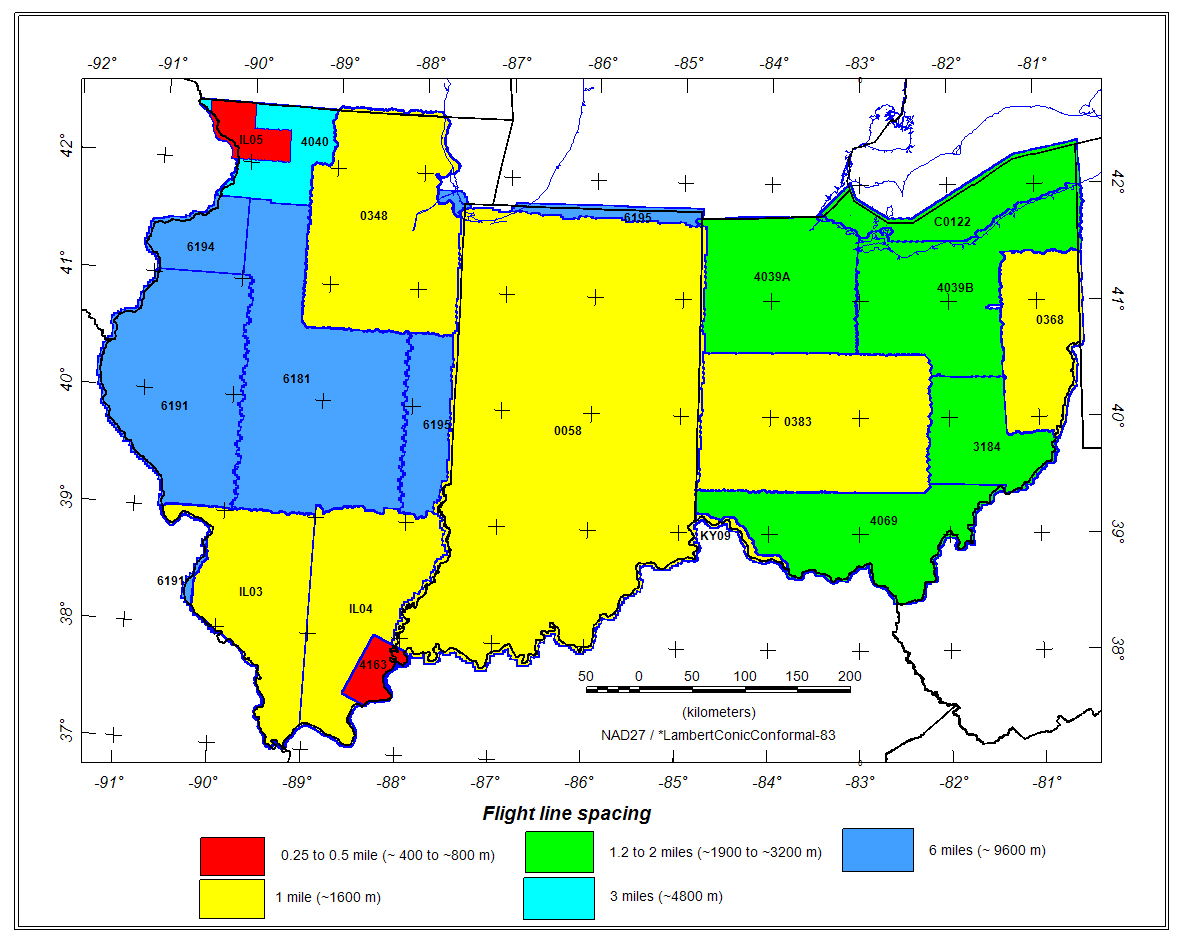 Map Of Indiana And Ohio USGS Data Series 321: Illinois, Indiana, and Ohio Magnetic and  Map Of Indiana And Ohio