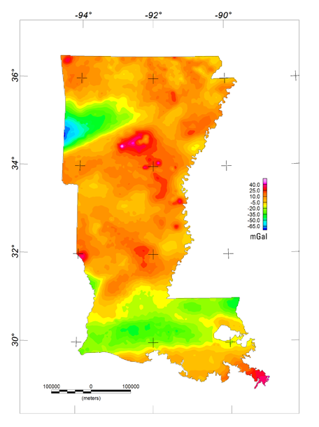 Reduced-size image of the isostatic gravity anomaly map