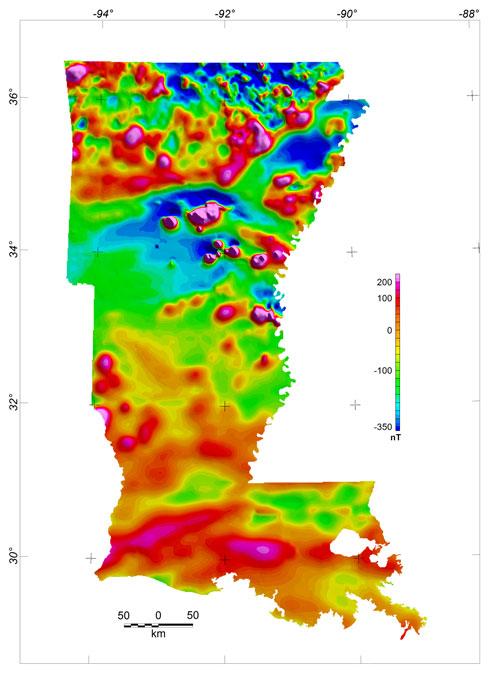 USGS Data Series 352 Arkansas and Louisiana Aeromagnetic and