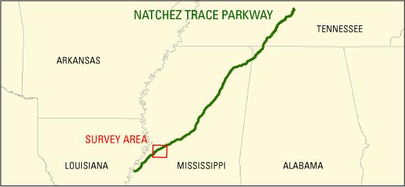 Natchez Trace Parkway Elevation Map.Eaarl Topography Natchez Trace Parkway 2007 First Surface