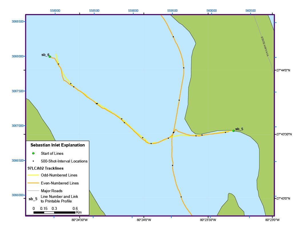 Map Of Sebastian Florida.Sebastian Inlet Map Archive Of Digital Boomer Sub Bottom Data