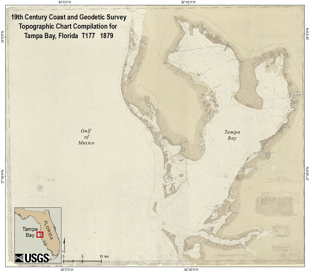 Methods digital recovery of 19th century surveys in tampa bay tampa bay t sheet nvjuhfo Image collections