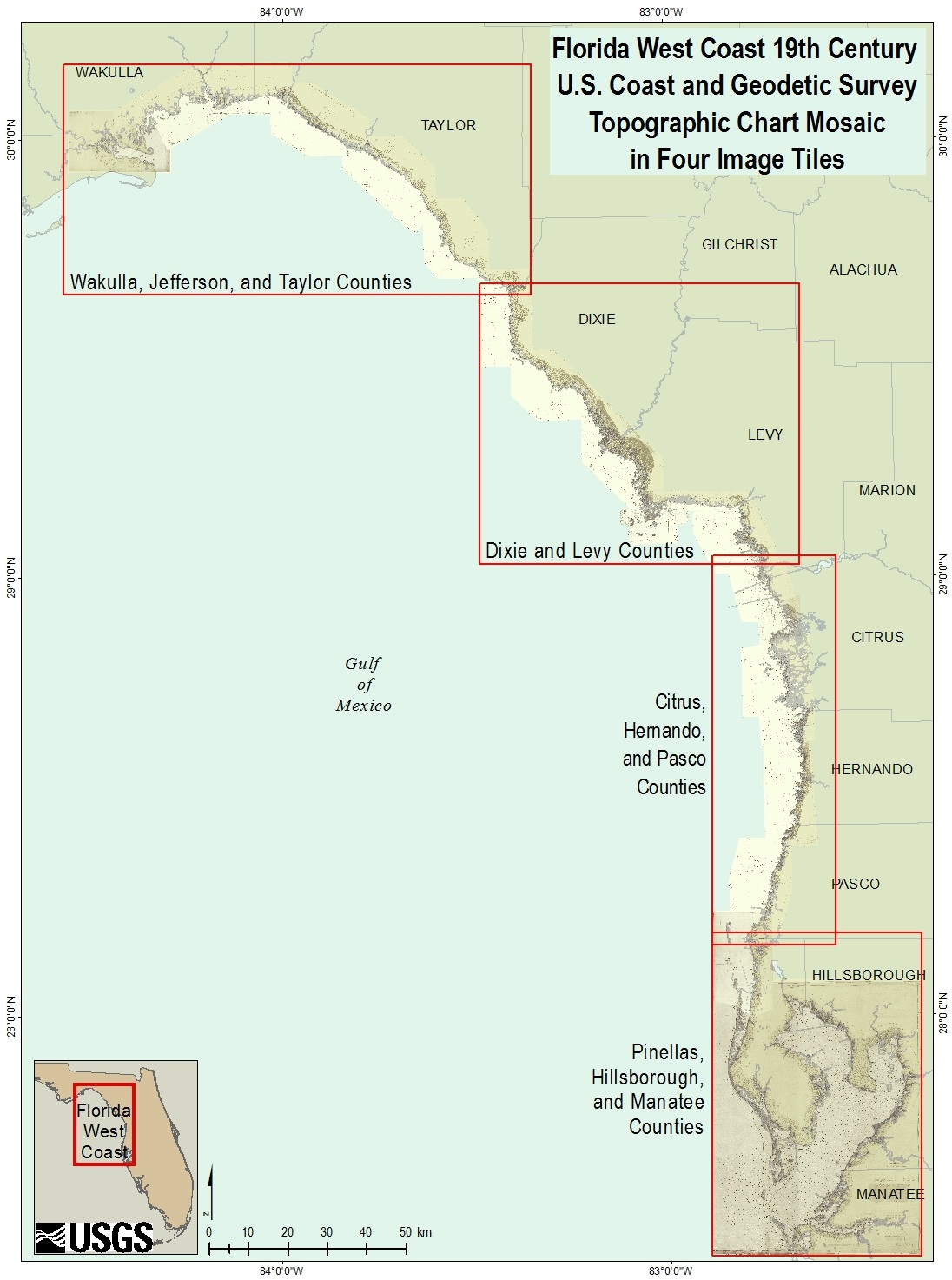 Methods Digital Recovery Of Th Century Surveys In Tampa Bay - Florida uplands map
