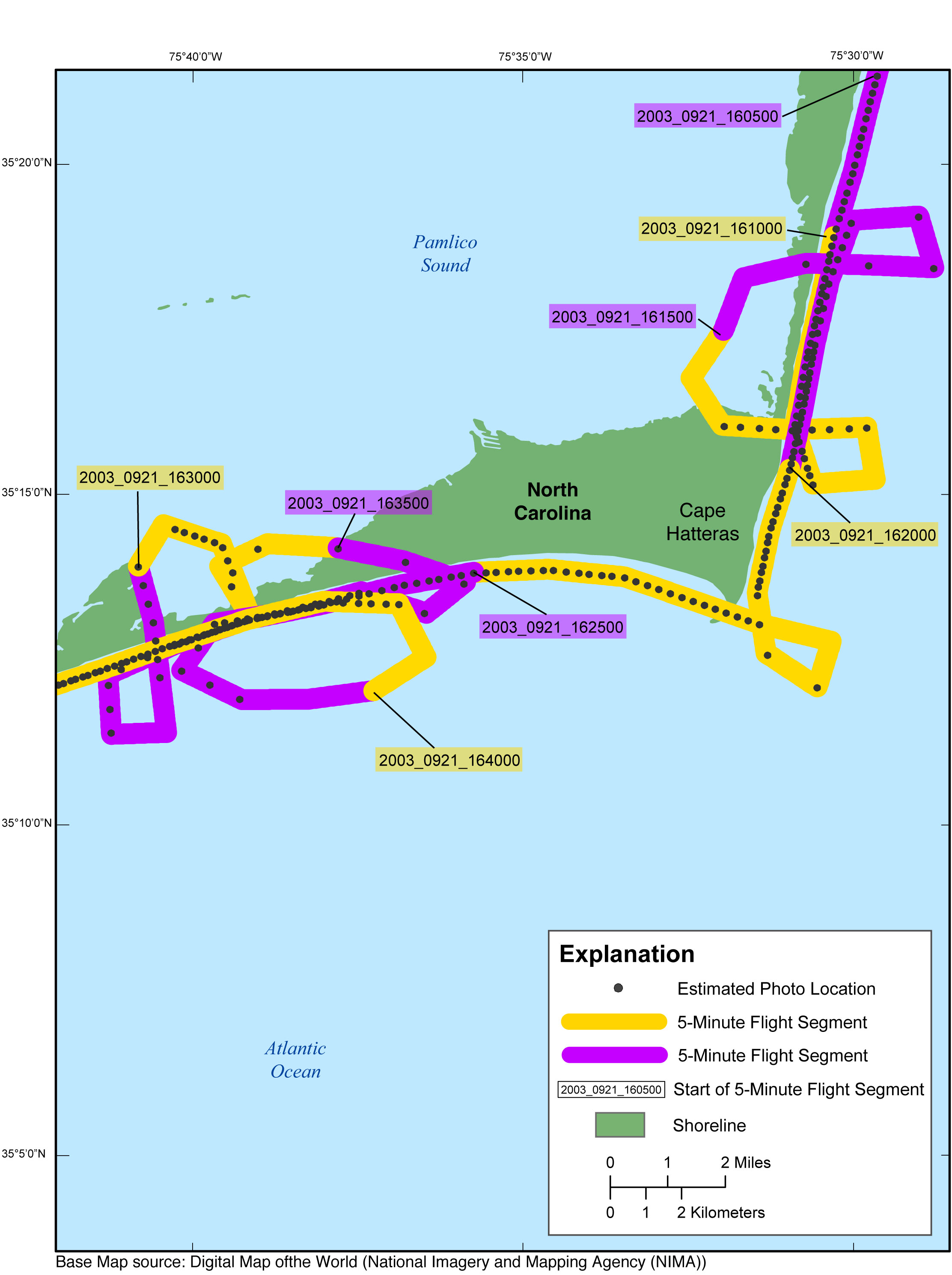Cape Hatteras N C Area Map