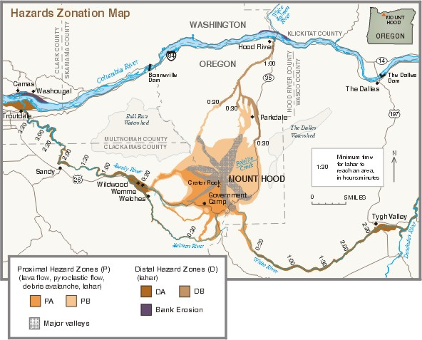 Mount HoodHistory And Hazards Of Oregons Most Recently Active - Map active volcanos in us