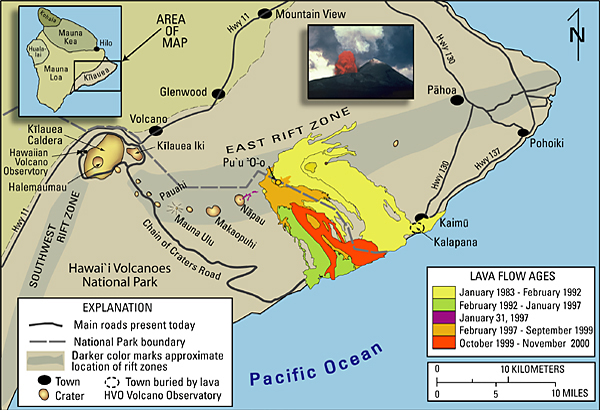 Image result for east rift zone of kilauea