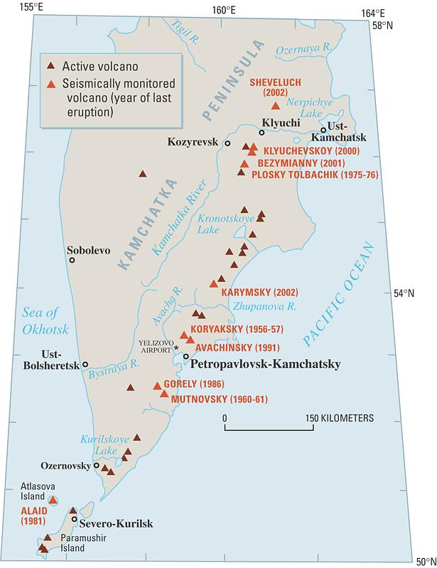 The Kamchatkan Volcanic Eruption Response Team KVERT Fact Sheet - Active us volcanoes map