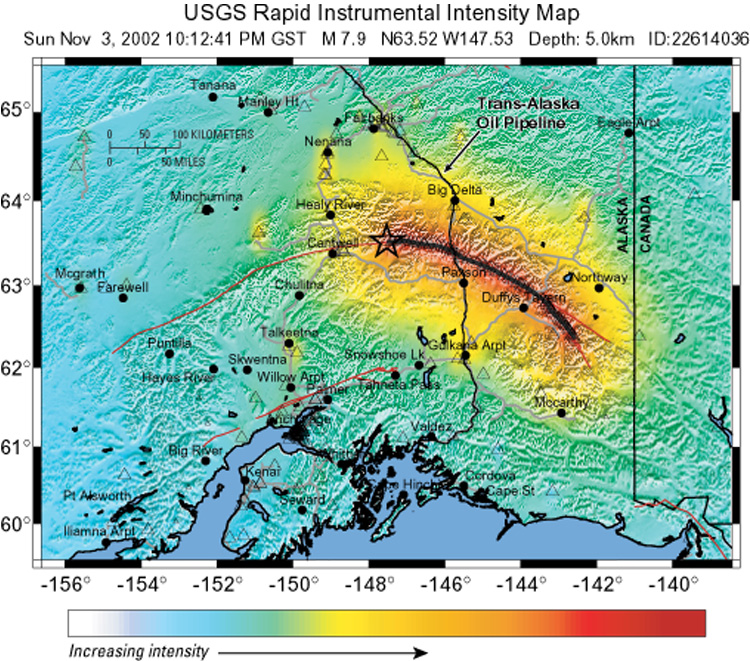 Shakemap And The Advanced National Seismic System - Us fault map