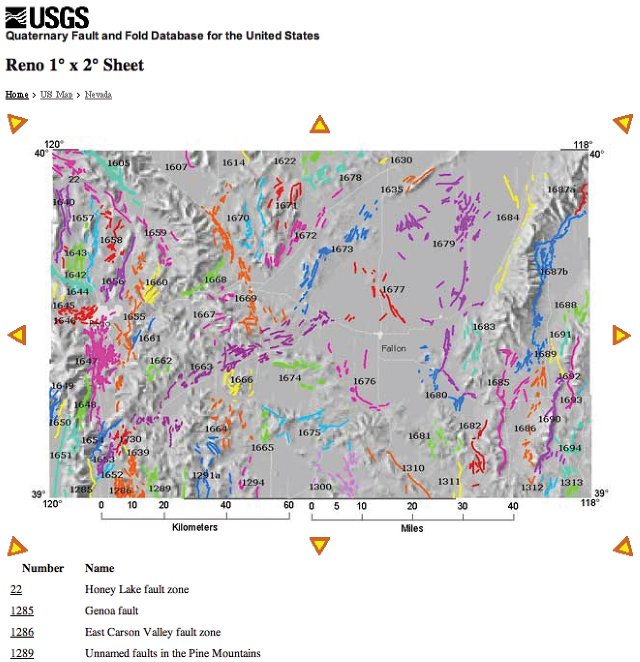 Quaternary Fault And Fold Database For The Nation - Map of fault lines in the us