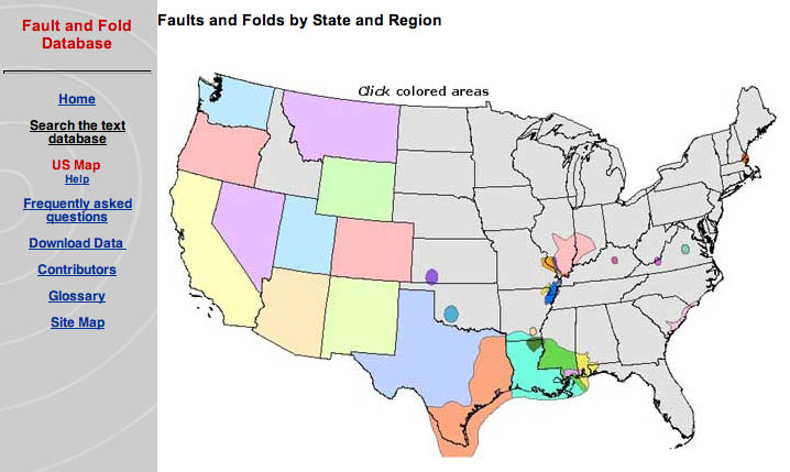 Quaternary Fault And Fold Database For The Nation - Us fault map