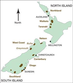 Waikato New Zealand Map.Usgs Fact Sheet 2004 3089 New Zealand Coal Resources