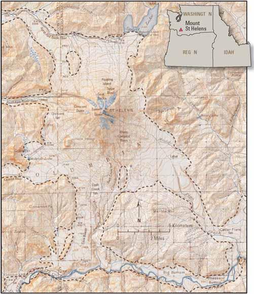 Pre Eruptive History Of Mount St Helens Washington USGS - Mt st helens on us map