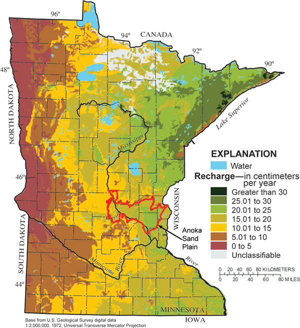 GroundWater Recharge In Humid Areas Of The United StatesA - Water runoff table map us