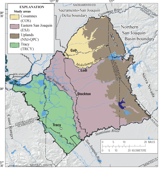 USGS Fact Sheet 20103079 Groundwater Quality In The Northern San - Us Map San Joaquin Valley
