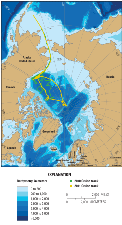 USGS Fact Sheet Studying Ocean Acidification In The - Arctic ocean on us map