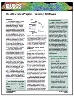 The 3D Elevation Program: summary for Hawaii