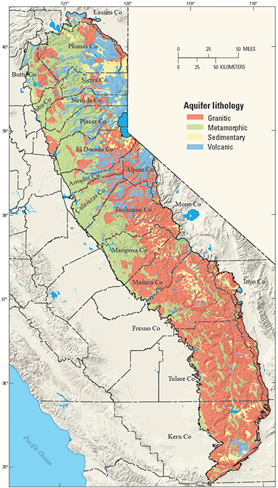 USGS Fact Sheet 2014–3096: Groundwater Quality in the Sierra Nevada ...