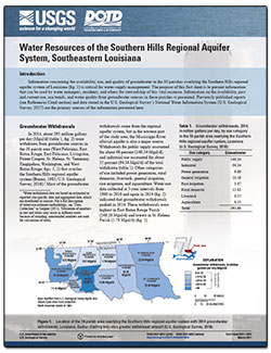 Water resources of the Southern Hills regional aquifer system, southeastern Louisiana