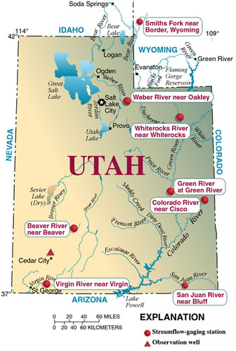 Colorado City Utah Map.Drought In Utah 1999 2002