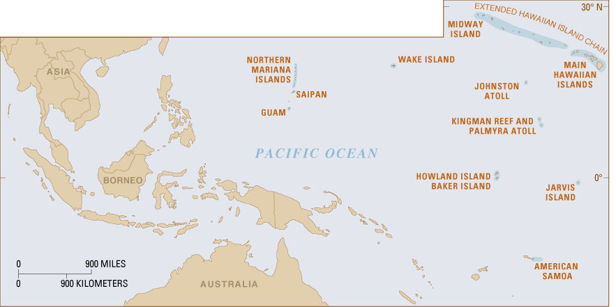Howland Island On World Map.U S Coral Reefs Imperiled National Treasures Usgs Fact Sheet 025 02