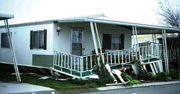 Photo Of Damaged Mobile Home