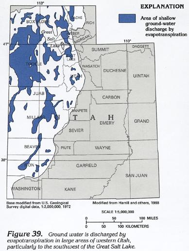 HA C Basin And Range Aquifers - Us groundwater level map
