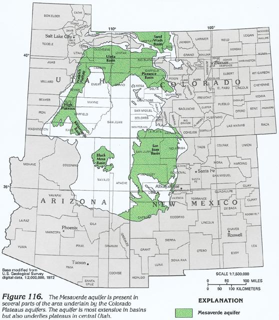 HA 730C Colorado Plateaus aquifers Mesaverde Aquifer