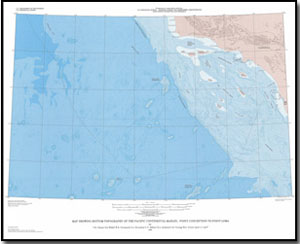 Pacific Ocean Topographic Map.Map Showing Bottom Topography In The Deep Sea Basins Of The Pacific