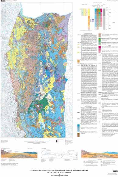 Geologic Map Of Upper Eocene To Holocene Volcanic And Related - Cascade range on us map