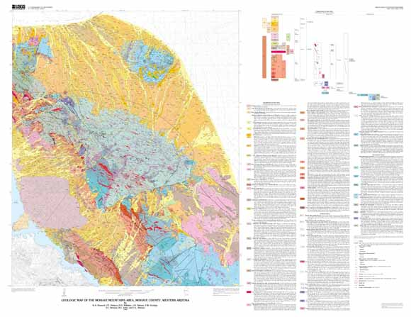 Map Of Western Arizona.Geologic Map Of The Mojave Mountains Area Mojave County Western