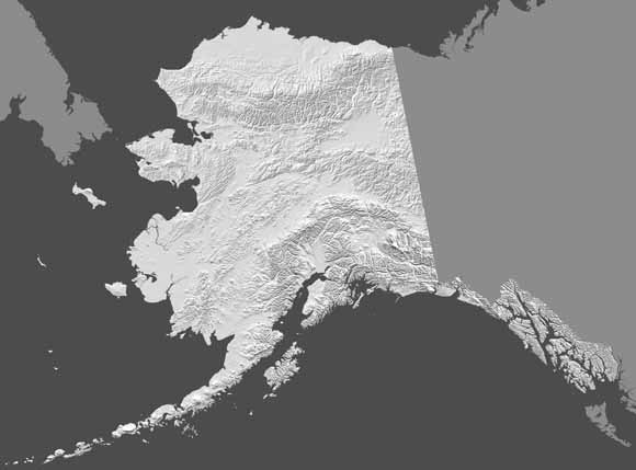 Digital ShadedRelief Image Of Alaska - Usgs topo maps alaska