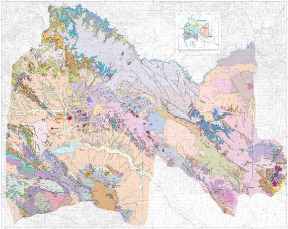 Geologic Map Of The San Carlos Indian Reservation Arizona - Map of us indian reservations