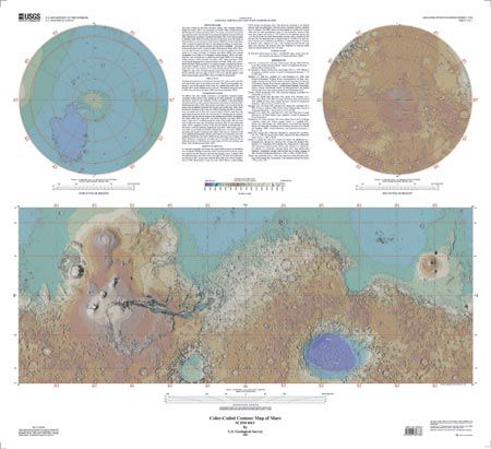 Topographic Map of Mars | USGS I Map 2782