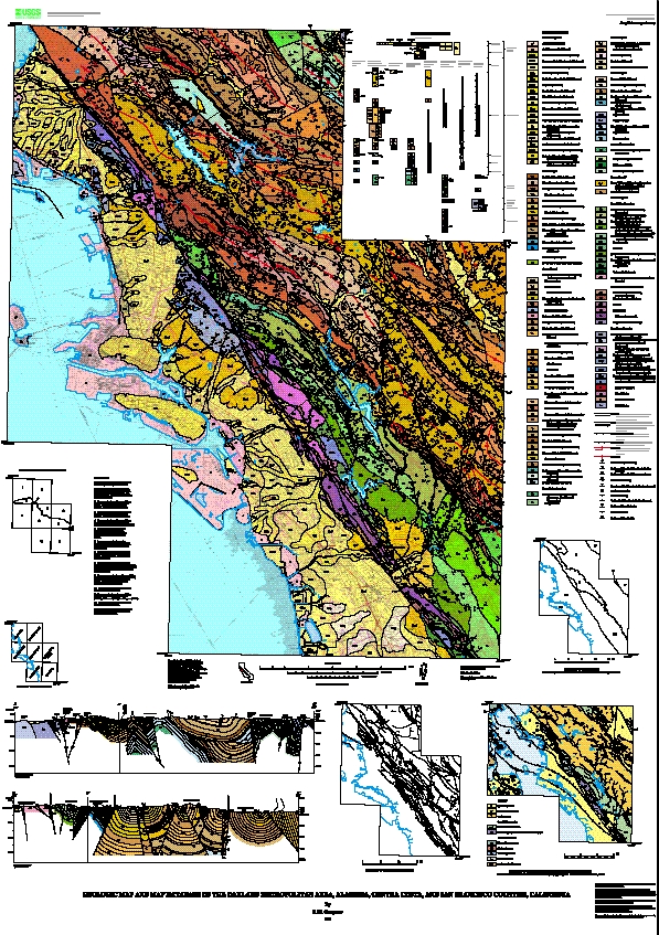 Geologic Map And Map Database Of The Oakland Metropolitan