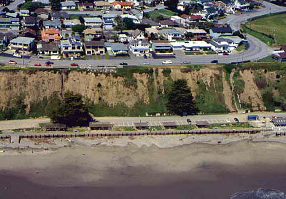 Map Showing Seacliff Response To Climatic And Seismic