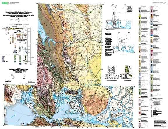 Geologic Map And Map Database Of Northeastern San Francisco Bay - California geologic map