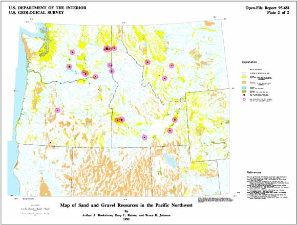 Digital Mineral Resource Maps Of Phosphate And Natural Aggregate For - North-west-us-map