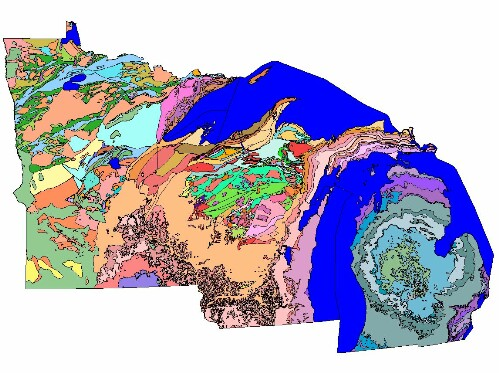 Online Files for Geologic Map and Mineral Deposits of Minnesota