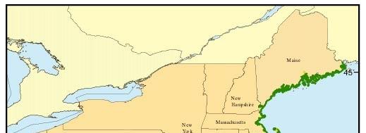 Map Of The Coastal Vulnerability Index Cvi For The U S Atlantic